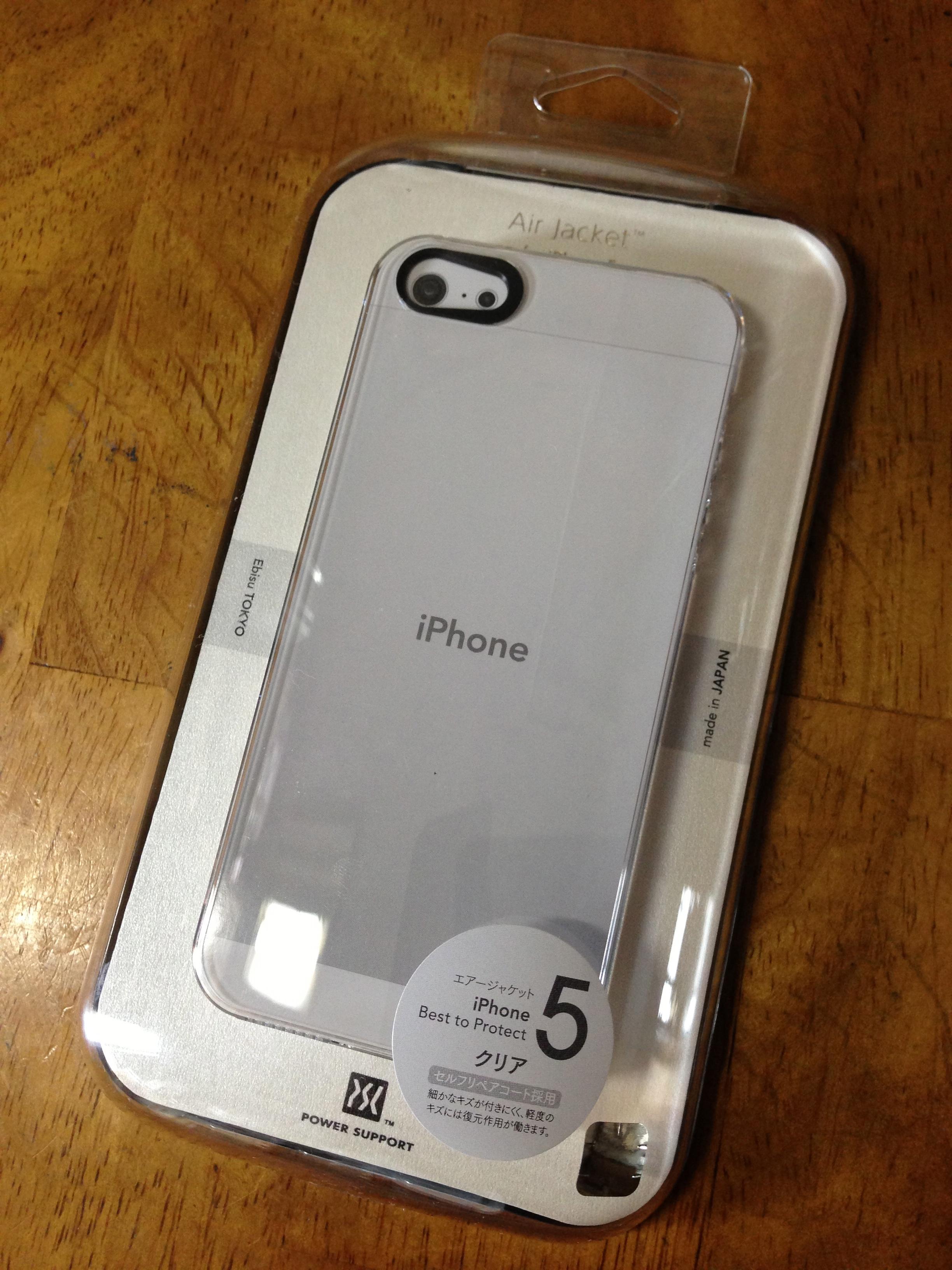 エアージャケットセット for iPhone5(クリア)PJK-71